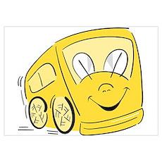 YELLOW HAPPY BUS Poster