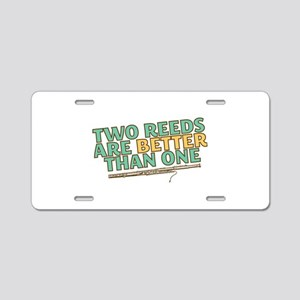 Two Reeds Aluminum License Plate
