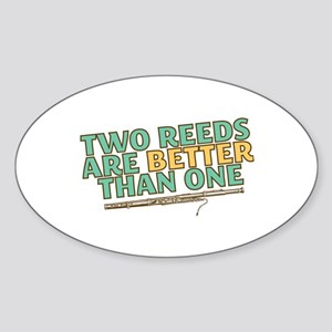 Two Reeds Sticker (Oval)