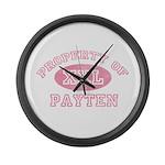 Property of Payten Large Wall Clock