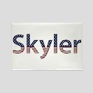 Skyler Stars and Stripes Rectangle Magnet