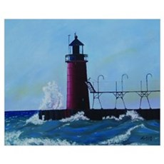 Oil Painting of South Haven M Canvas Art