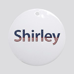 Shirley Stars and Stripes Round Ornament