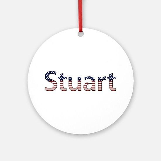 Stuart Stars and Stripes Round Ornament