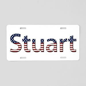 Stuart Stars and Stripes Aluminum License Plate