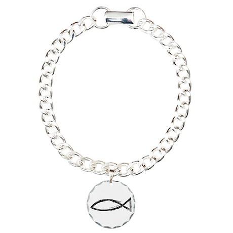 Ichthys (Jesus Fish) - Matthew 4:19 Charm Bracelet