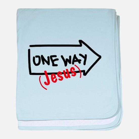 One Way (Jesus) baby blanket
