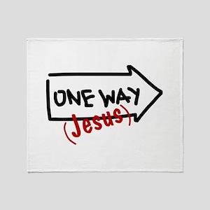 One Way (jesus) Throw Blanket