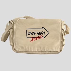 One Way (Jesus) Messenger Bag