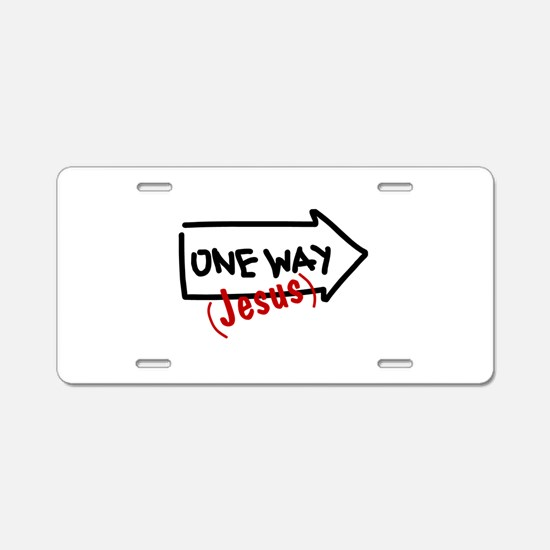 One Way (Jesus) Aluminum License Plate