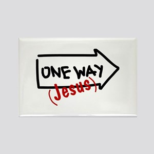 One Way (Jesus) Rectangle Magnet