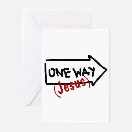 One Way (Jesus) Greeting Card