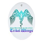 tribal wings Ornament (Oval)
