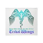 tribal wings Throw Blanket