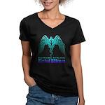 tribal wings Women's V-Neck Dark T-Shirt