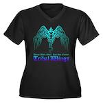 tribal wings Women's Plus Size V-Neck Dark T-Shirt