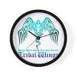 tribal wings Wall Clock