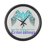 tribal wings Large Wall Clock