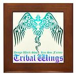 tribal wings Framed Tile