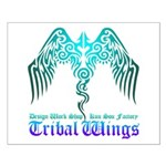 tribal wings Small Poster