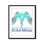 tribal wings Framed Panel Print