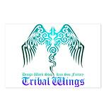 tribal wings Postcards (Package of 8)