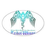 tribal wings Sticker (Oval 10 pk)