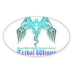 tribal wings Sticker (Oval 50 pk)