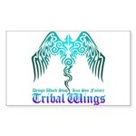 tribal wings Sticker (Rectangle)