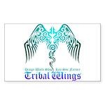 tribal wings Sticker (Rectangle 10 pk)