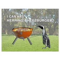 HERRING CHEEZBURGER Poster
