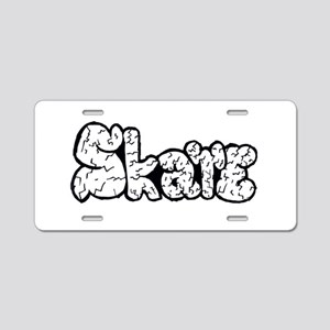Skate Rocks Aluminum License Plate