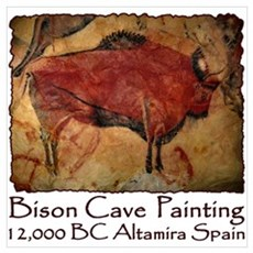 Bison Cave Painting Petroglyph Poster