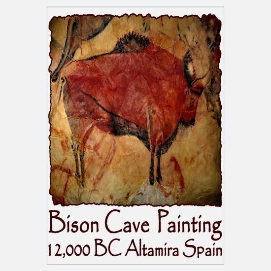 Bison Cave Painting Petroglyph