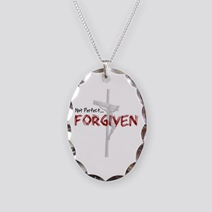 Not Perfect... Forgiven Necklace Oval Charm