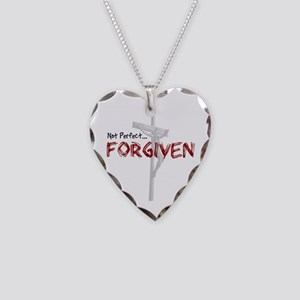 Not Perfect... Forgiven Necklace Heart Charm
