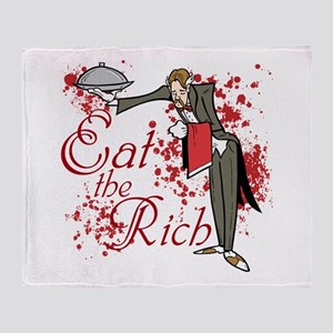 Eat the Rich Throw Blanket