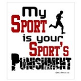 Cross country running Posters