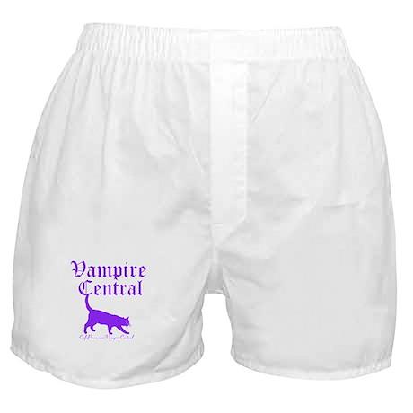 Vampire Central Purple Cat Boxer Shorts