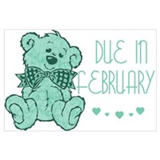 Green Marble Teddy Due February Poster