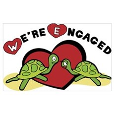 We're Engaged Poster