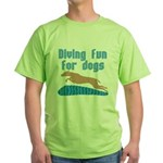 Diving Dog Green T-Shirt
