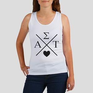 AlphaSigmaTau Letters Cross Women's Tank Top