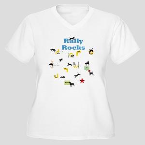 Rally 5 Women's Plus Size V-Neck T-Shirt
