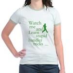 Stupid Handler Tricks Jr. Ringer T-Shirt