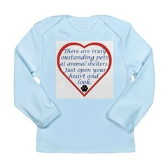 Open Your Heart Long Sleeve Infant T-Shirt