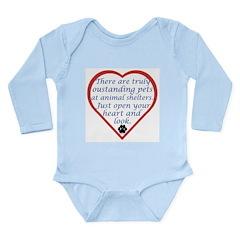 Open Your Heart Long Sleeve Infant Bodysuit