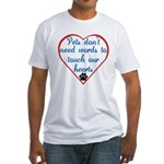 Touch Your Heart v4 Fitted T-Shirt