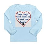 Touch Your Heart v4 Long Sleeve Infant T-Shirt