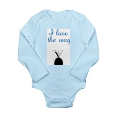 Love the Wag Long Sleeve Infant Bodysuit